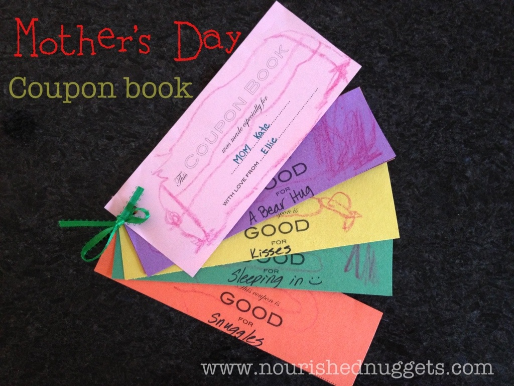 mother s day coupon book template nourished nuggets